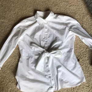 Cute CAbi blouse with tie front